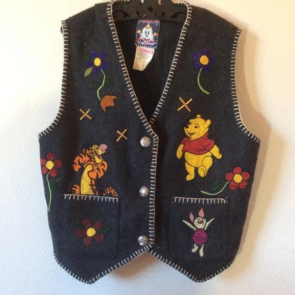 Disney Jackets & Blazers - Disney Vintage Winnie The Pooh & Friends Vest
